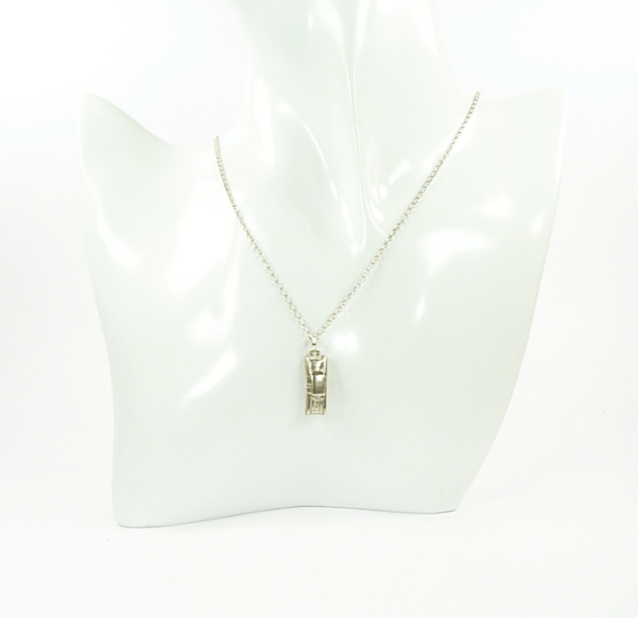 Silver Car Pendant Necklace