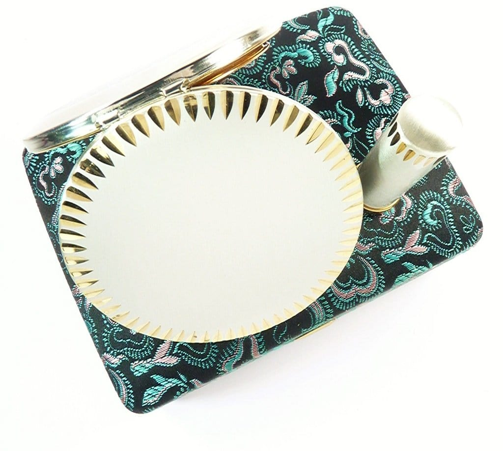 Silver And Gold Plated Stratton Lipstick And Compact Set