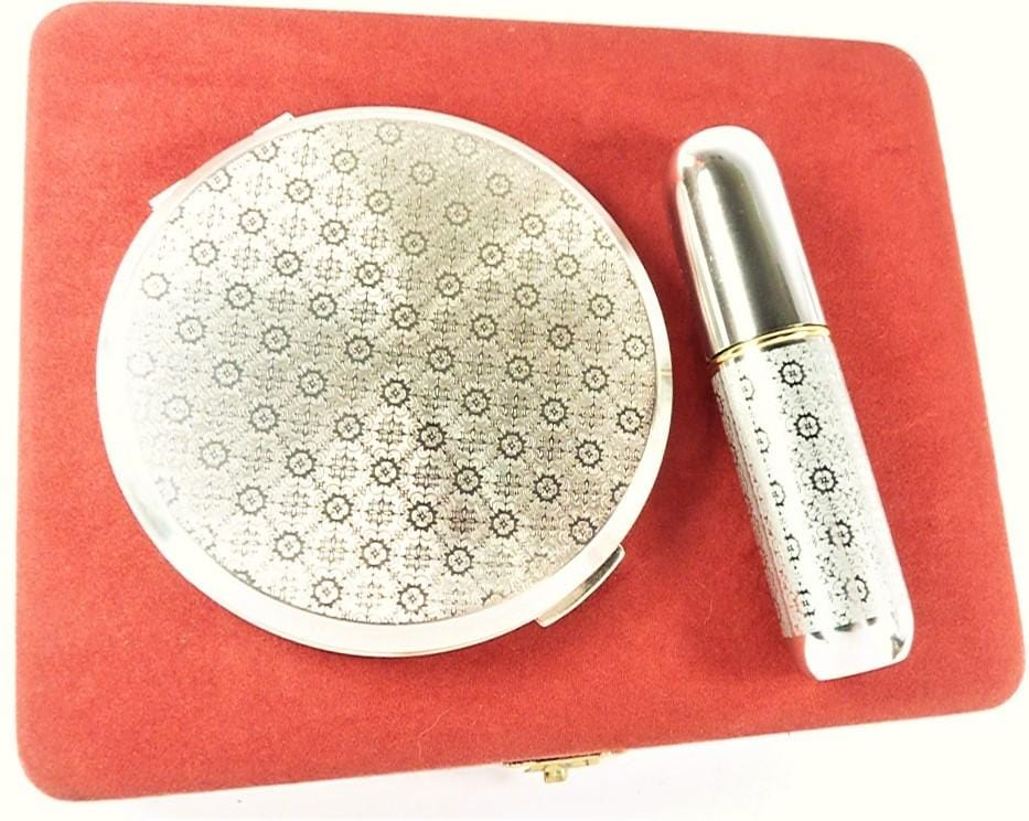 Silver Coloured Stratton Vanity Set