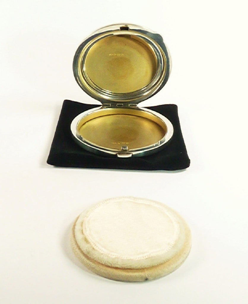 Silver Compact Mirror For Max Factor Foundation