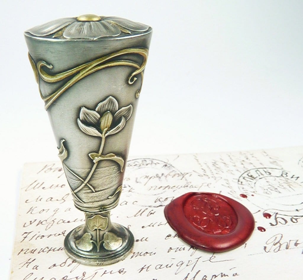 Silver Gilt Antique Wax Seal