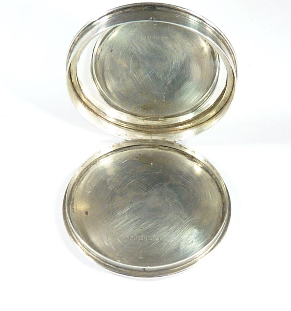 Silver Hallmarked Powder Compact