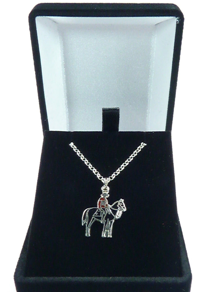 Silver Necklace With  Canadian Mountie
