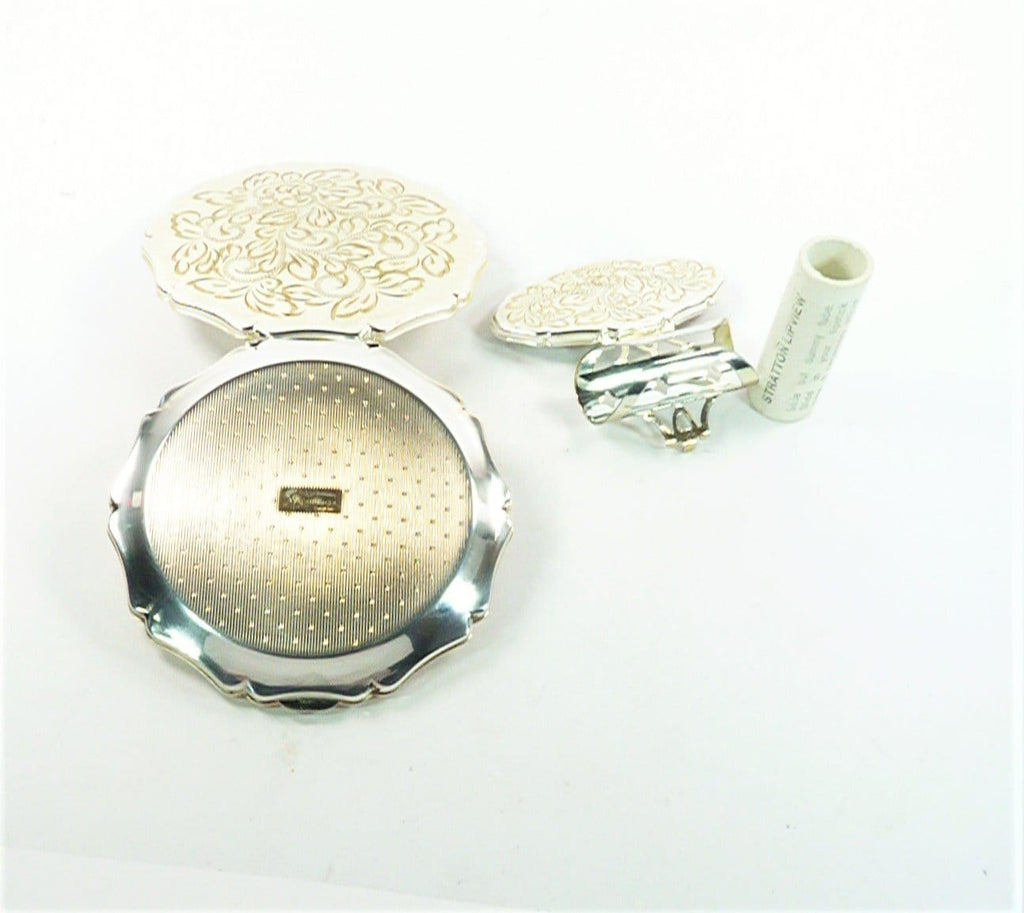 Silver Plated Queen Compact Mirror