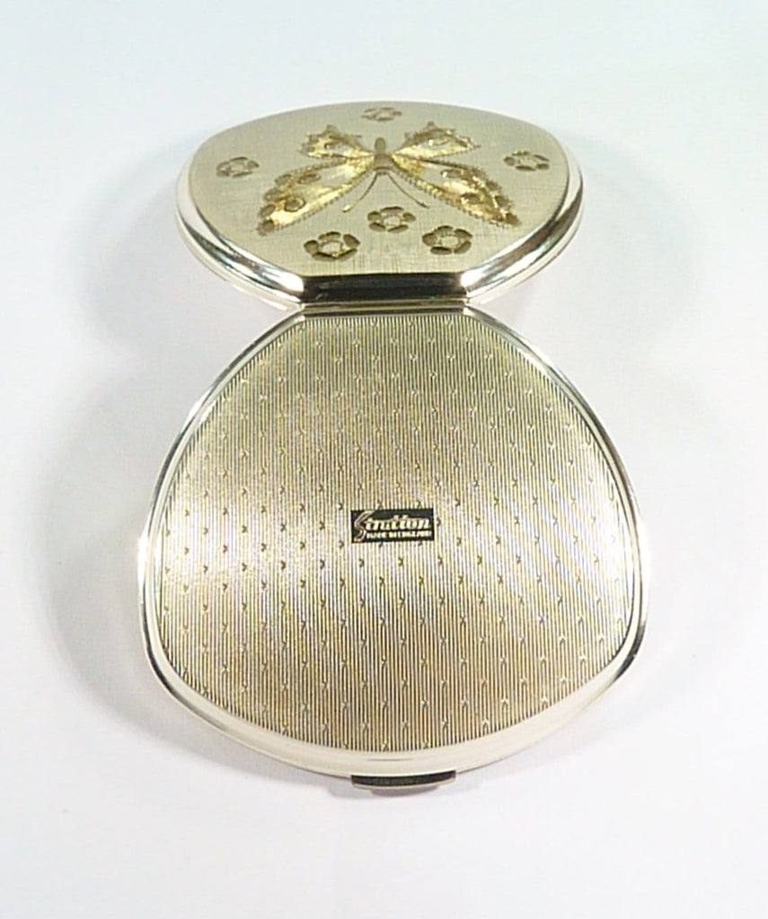 Silver Plated Stratton Compact For Max Factor Creme Puff