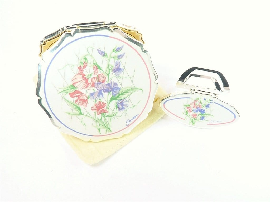 Silver Plated Stratton Compact Set