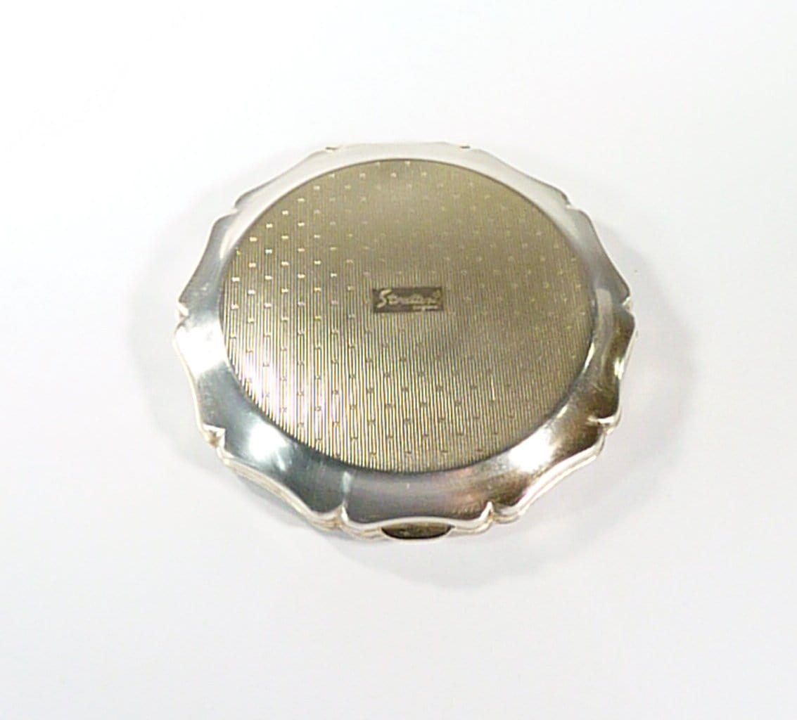Silver Plated Stratton Powder Compact