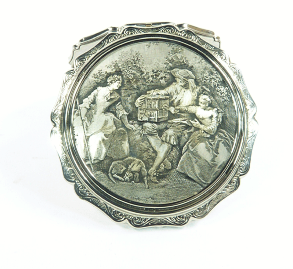 Silver Wedding Stratton Compact