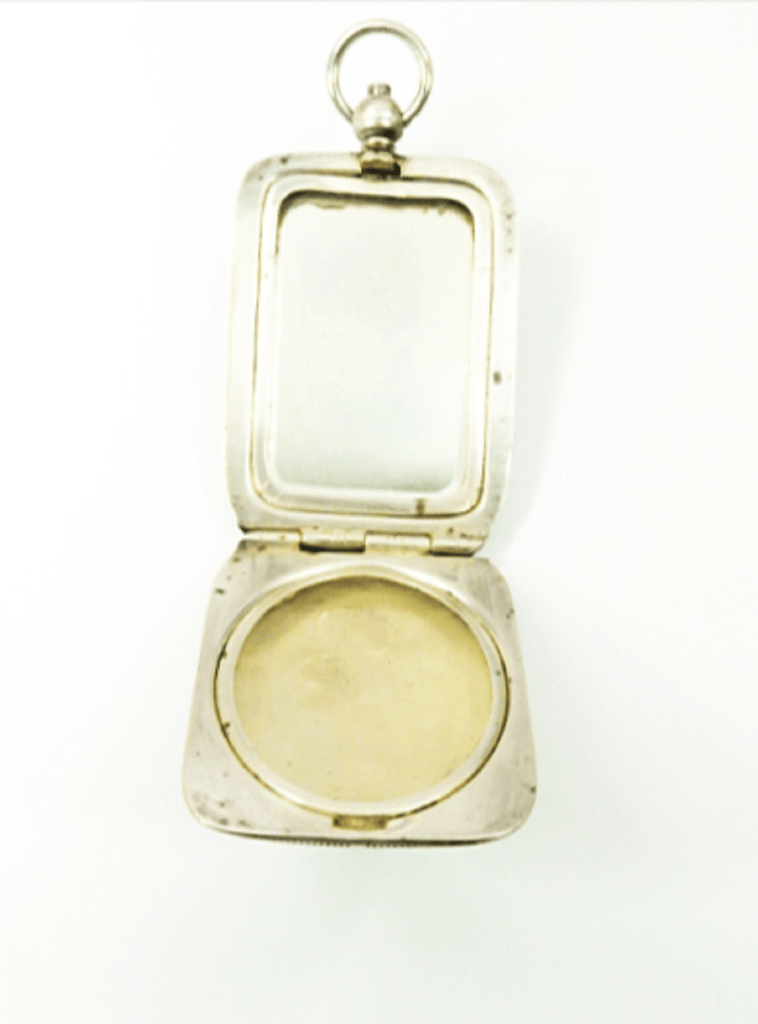 Hallmarked Silver Ladies Pocket Mirror