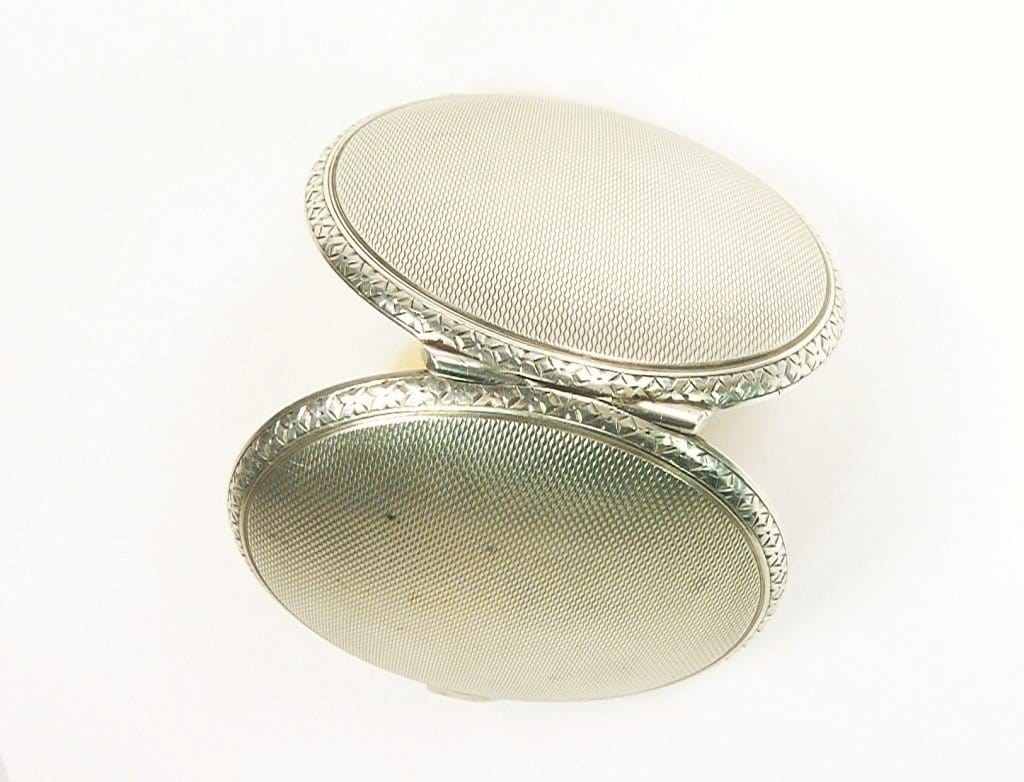 Small Sterling Silver Loose Powder Compact