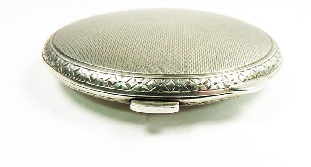 Small Silver Makeup Compact 1959 Film Prop