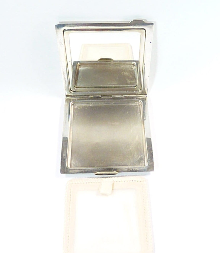 Solid Silver Compact Mirror