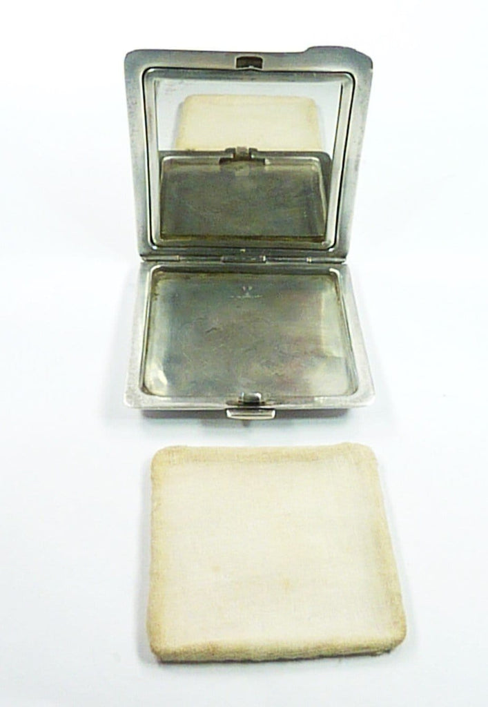Solid Silver Loose Powder Compact