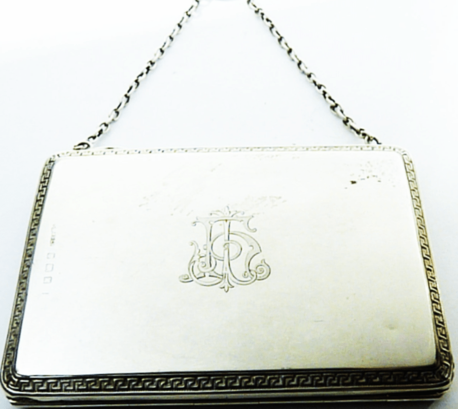 Solid Silver Card Case With Chain