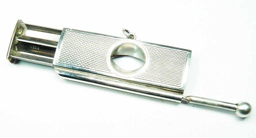 Solid Silver Cigar Cutter