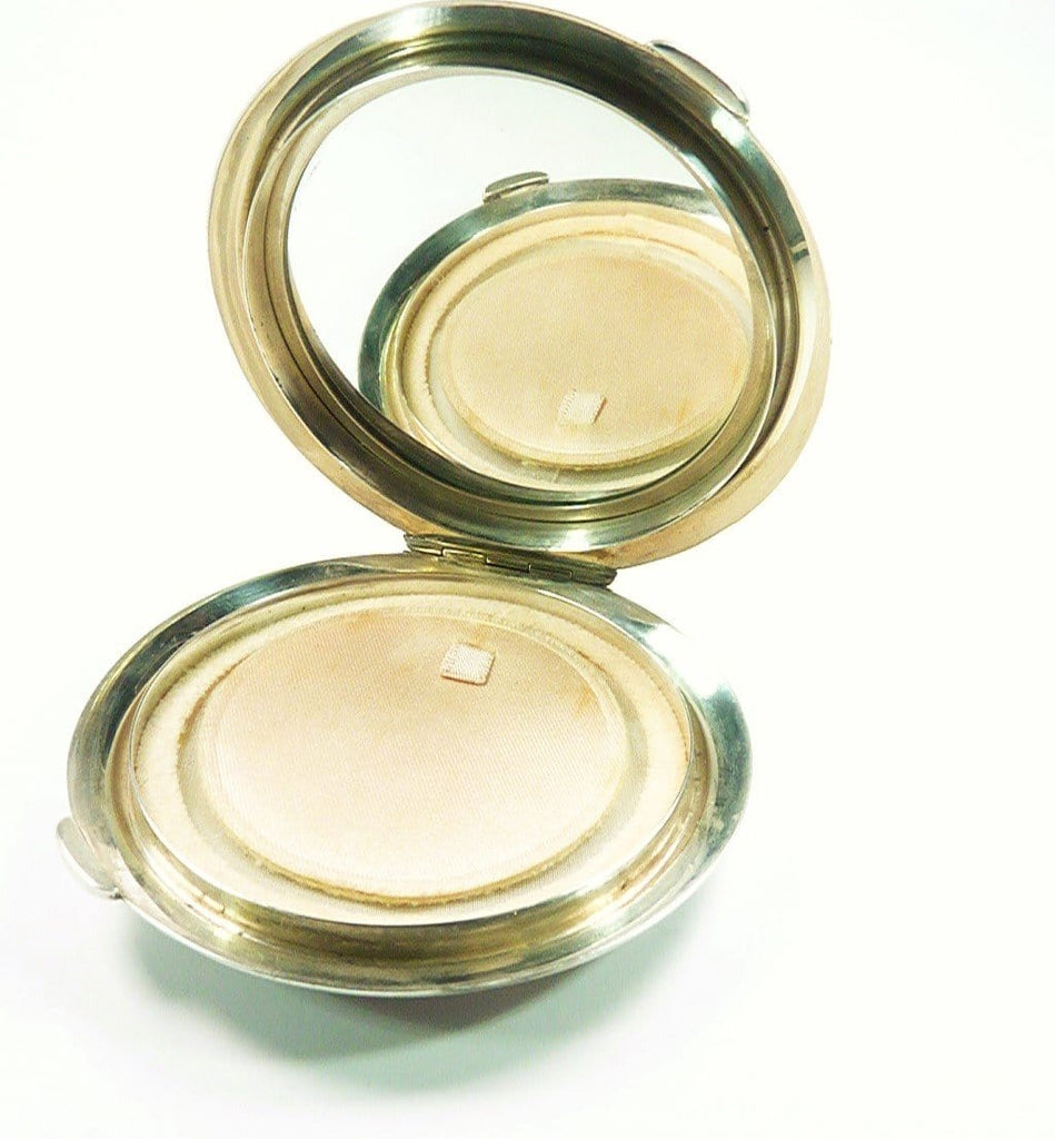 Solid Silver Compact Mirror For Pressed Foundation
