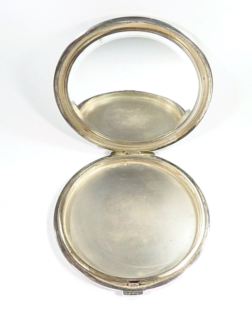 Solid Silver Large Flapjack Compact Mirror