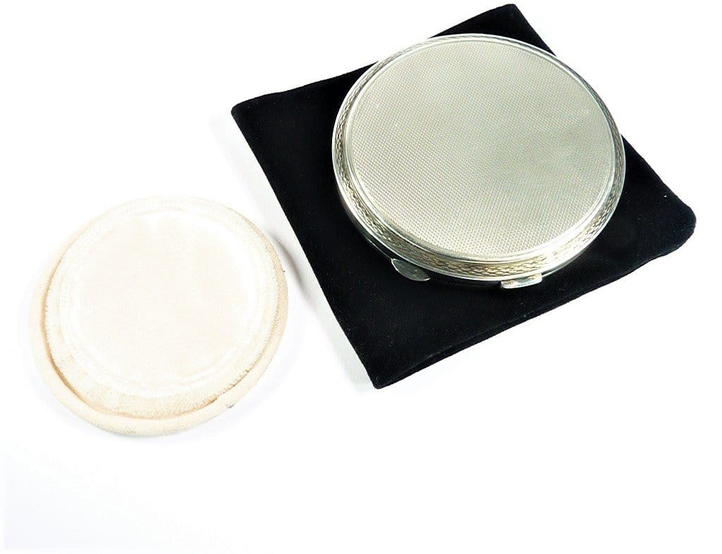 Solid Silver Makeup Compact