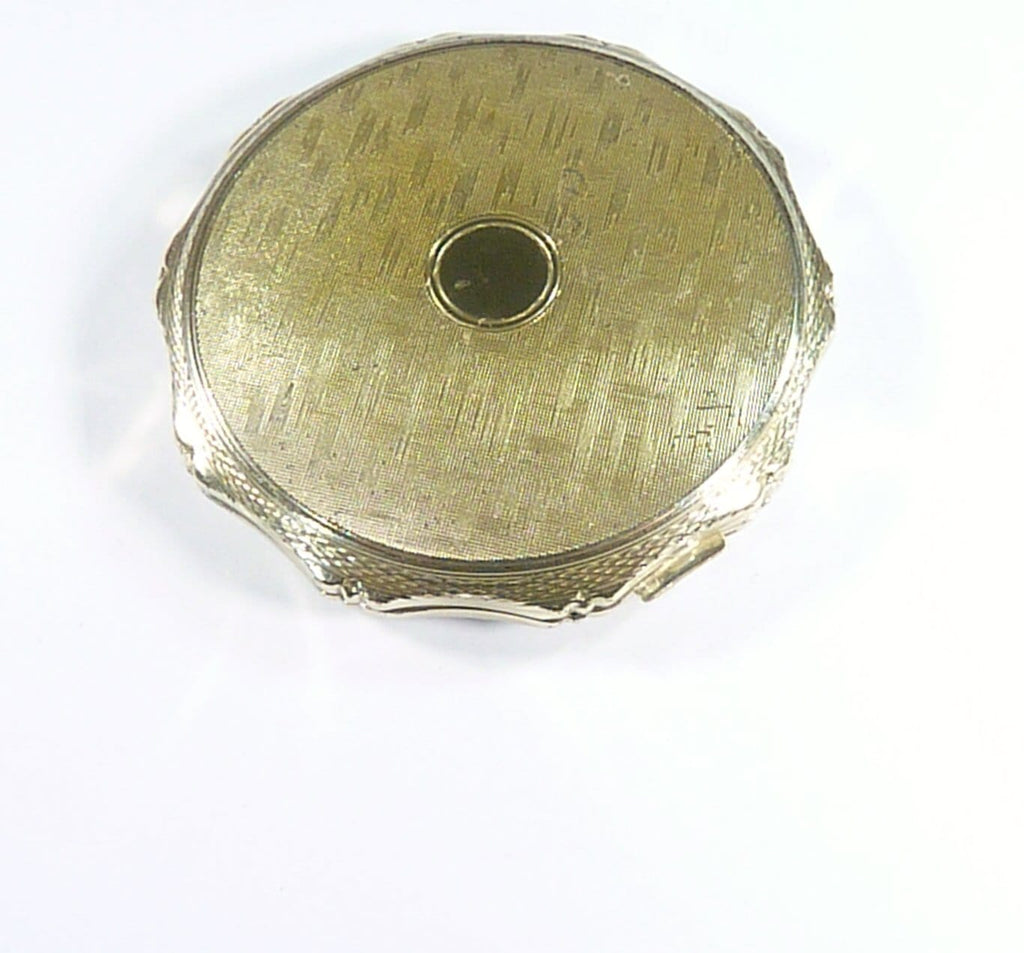 Solid Silver Powder Mirror Compact