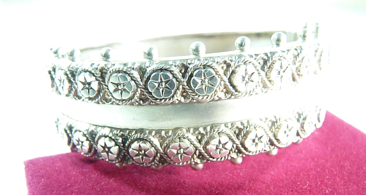 Solid silver Victorian bracelets fully hallmarked