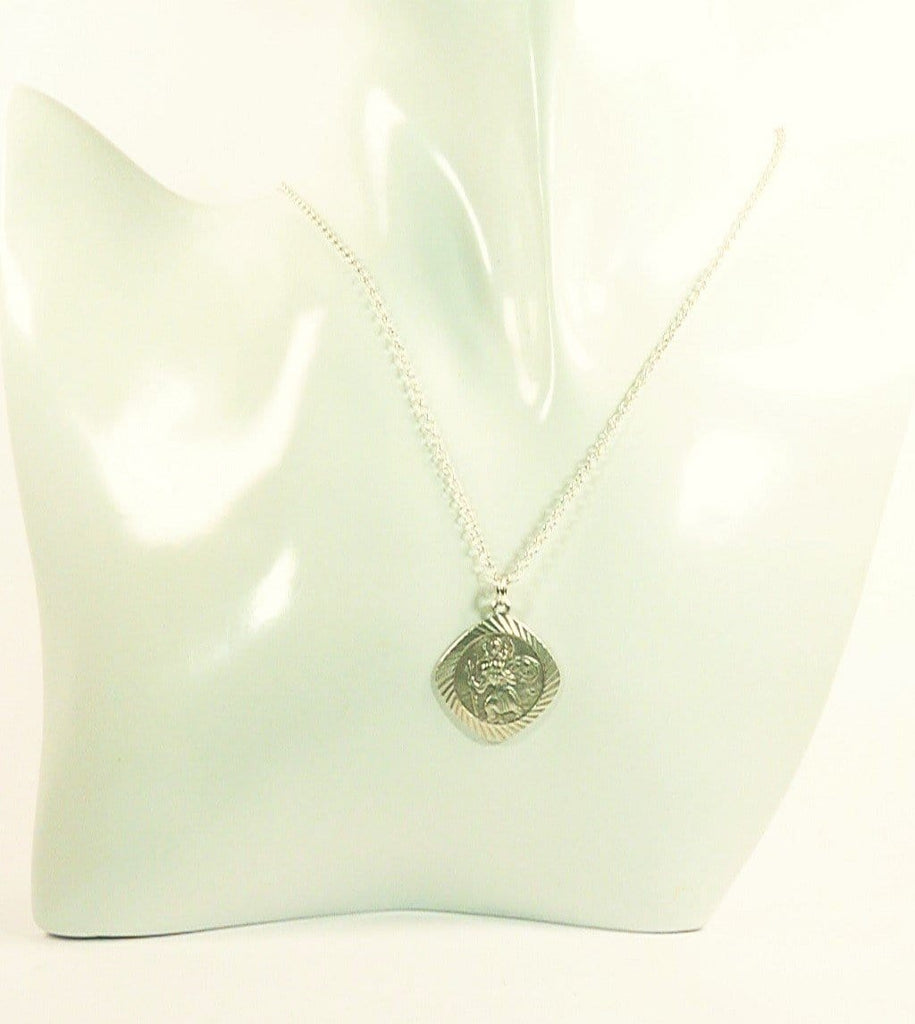 St Christopher Silver Good Luck For Travellers Necklace