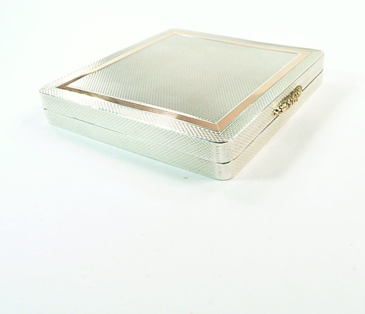 Sterling Silver And Gold Compact Mirror