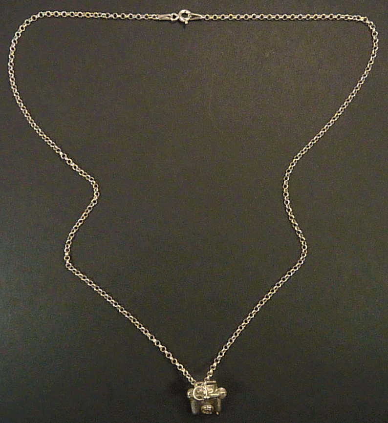 Sterling Silver Dial Phone Necklace
