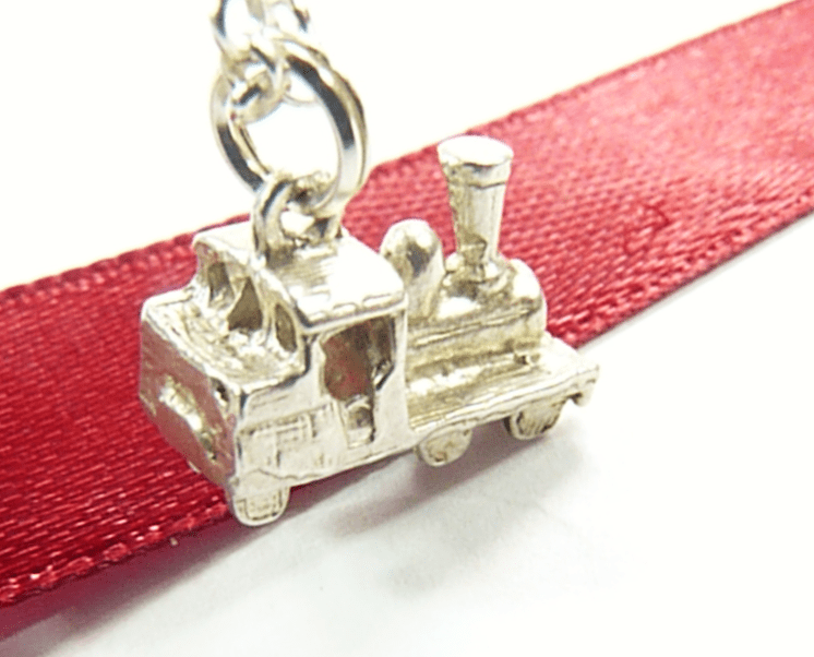 Sterling Silver Steam Train Necklace