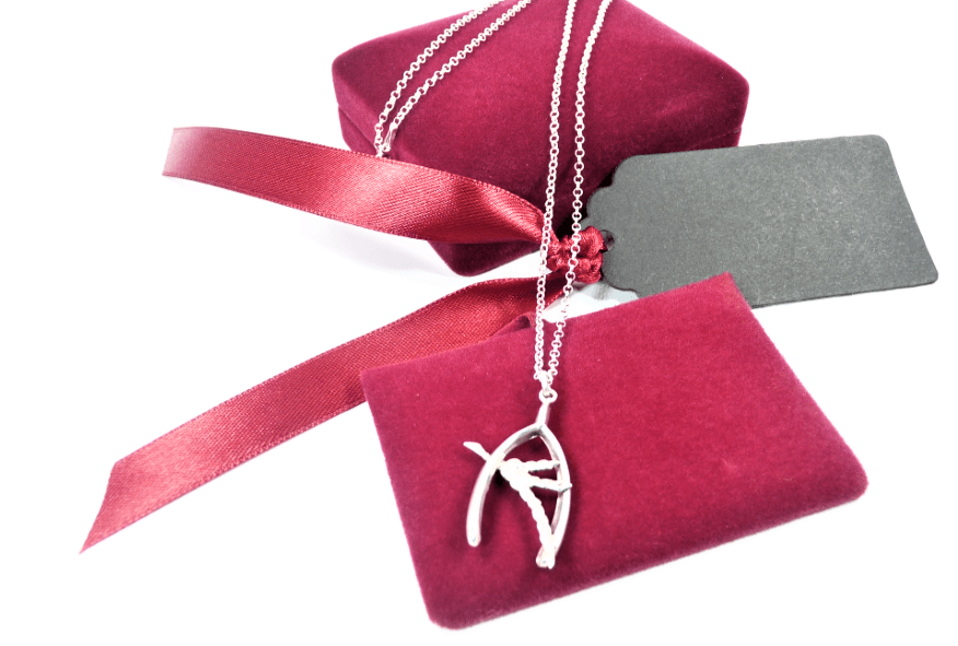 Sterling Silver Wishbone Lucky Charm Necklace
