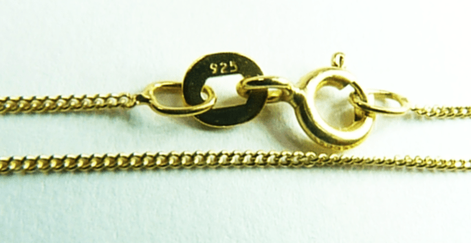 Sterling Silver Yellow Gold Plated Necklace