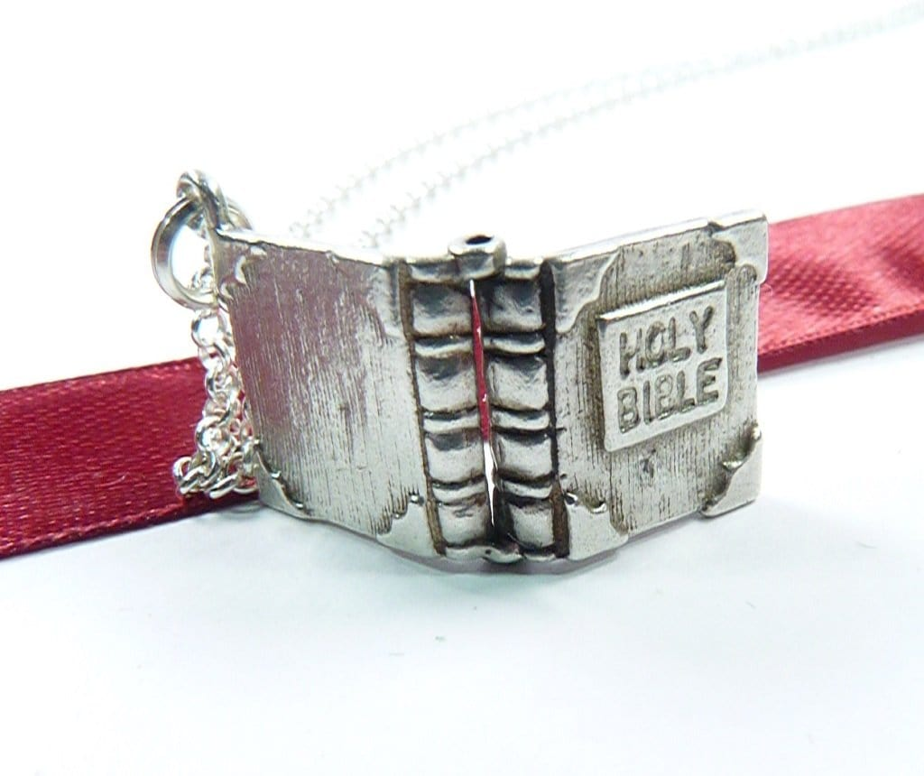Sterling Silver Holy Bible Necklace