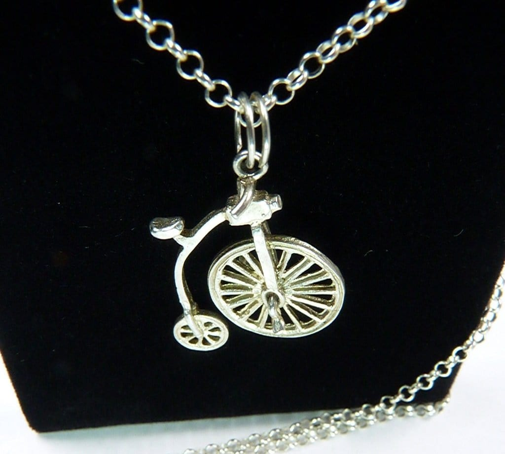 Sterling Silver Penny Farthing Necklace