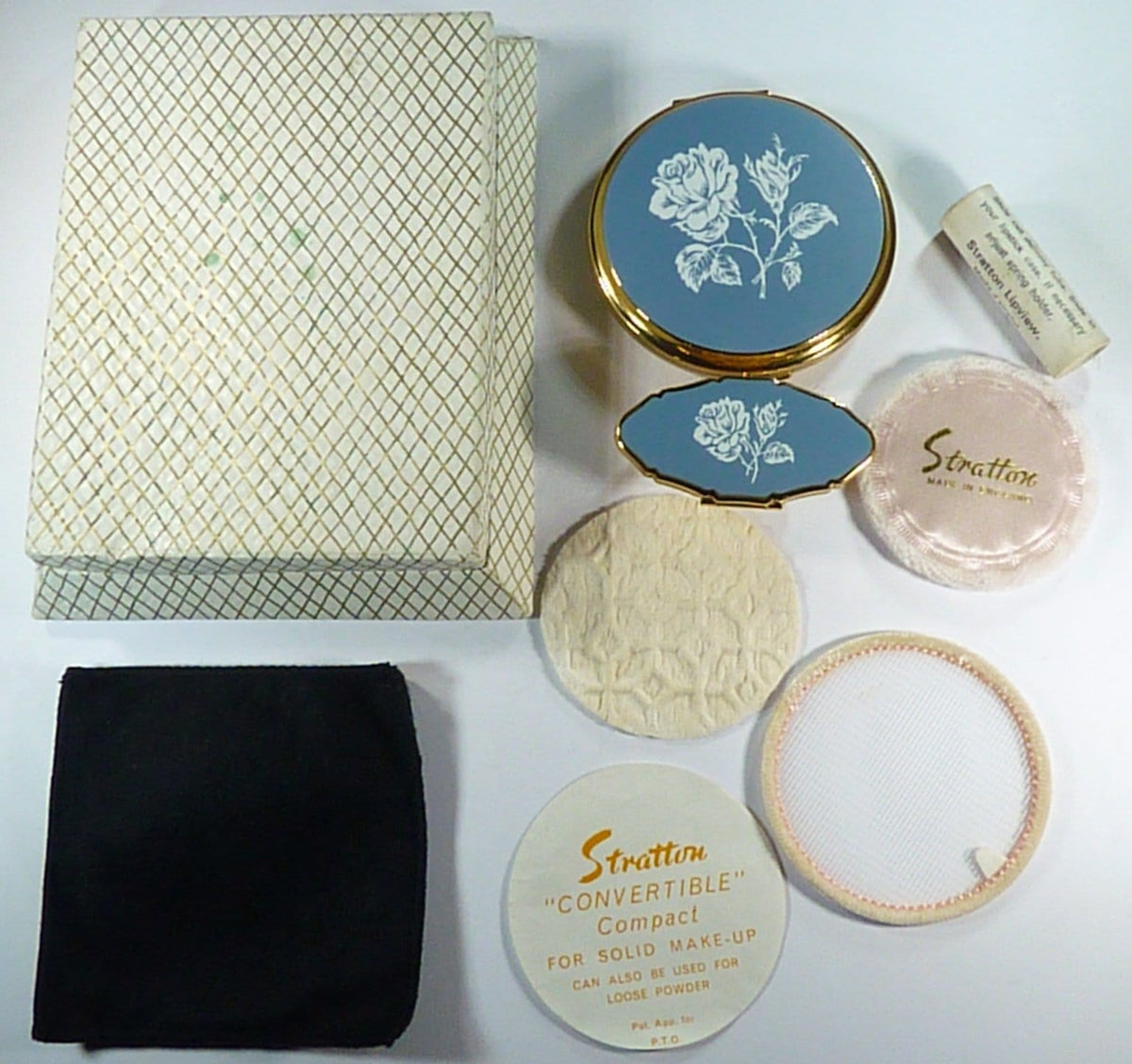 Stratton Compact And Lipstick Holder