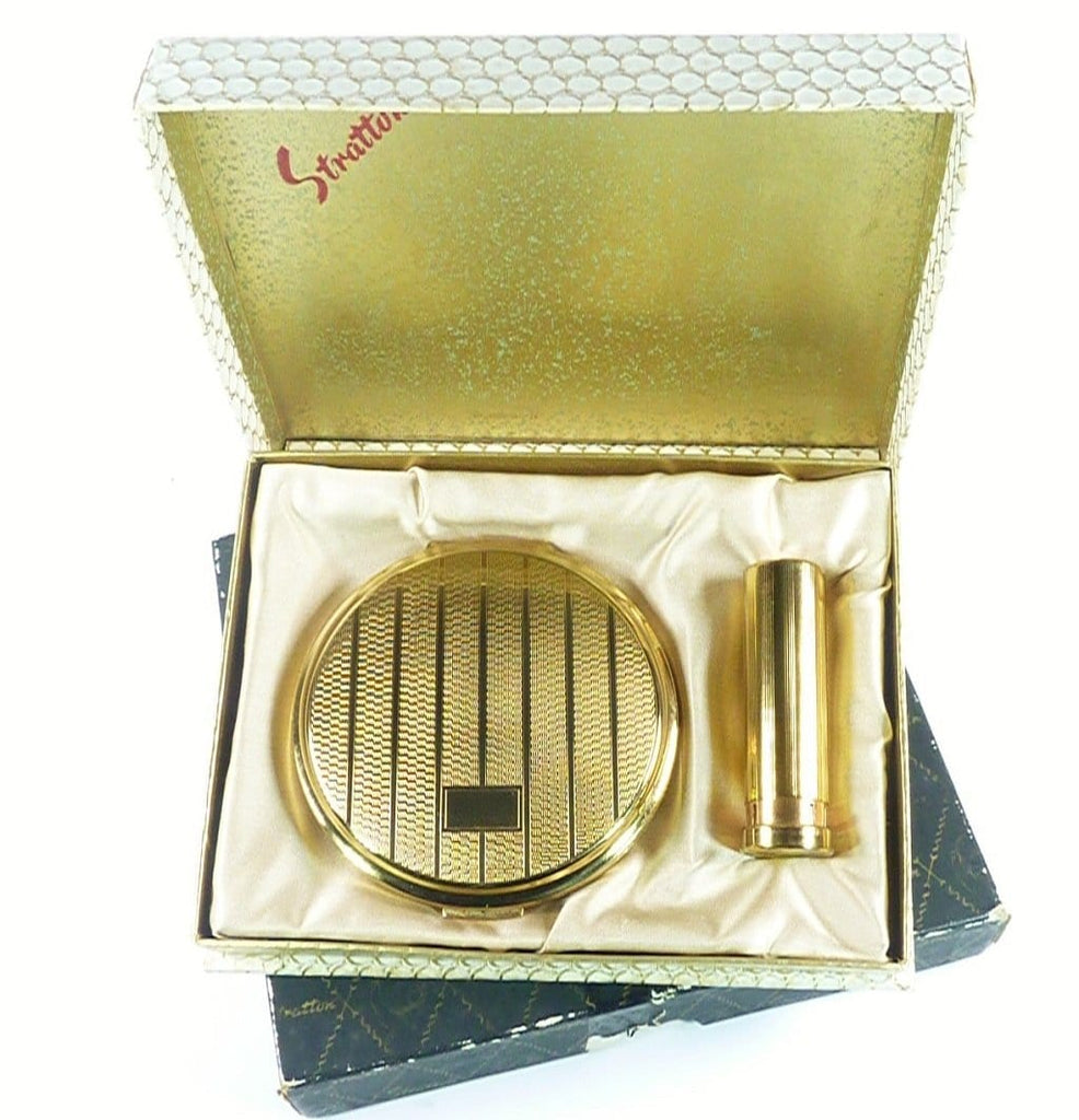 Stratton Compact And Lipstick Set