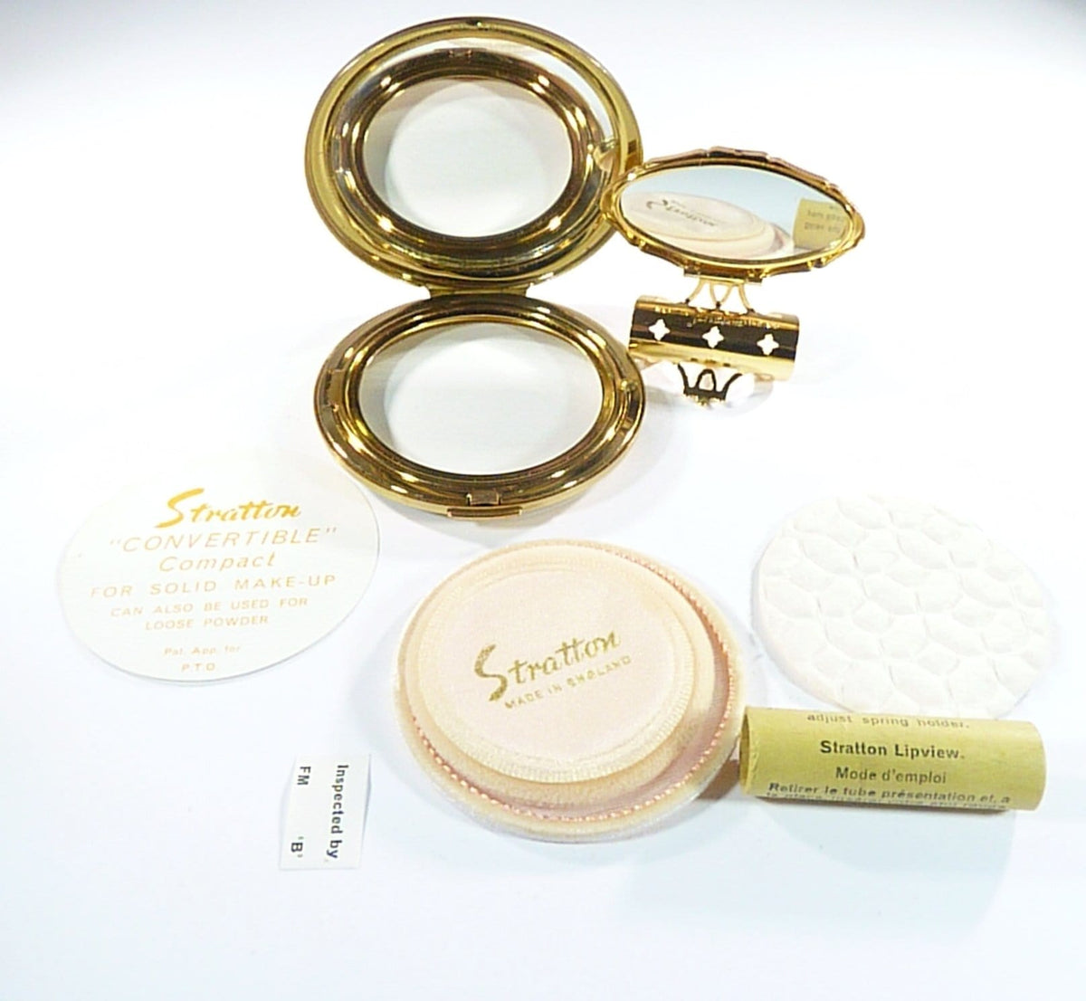 Stratton Compact For Max Factor Creme Puff