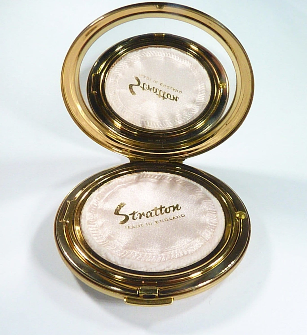 Vintage Stratton Compact Mirror For Max Factor Creme Puff 1960s