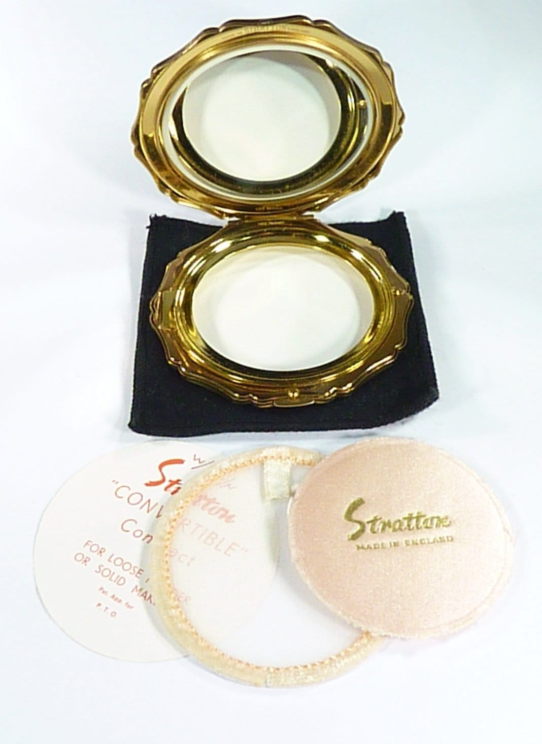 Stratton Compact With Puff & Sifter Unused
