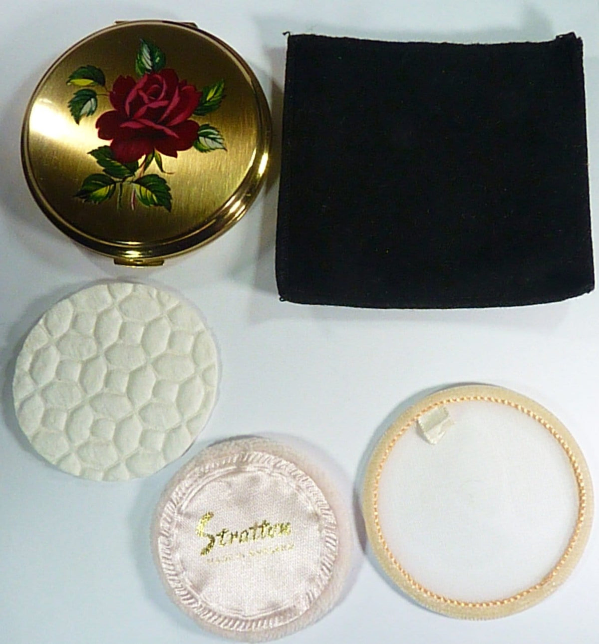 Stratton Powder Mirror Compact With Original Accessories