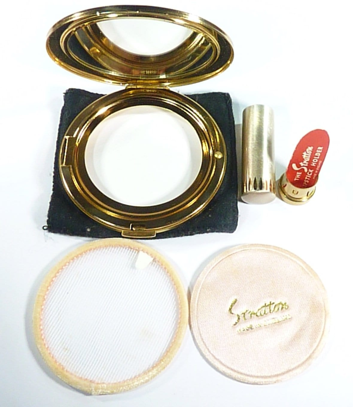 Stratton Refillable Powder Compact