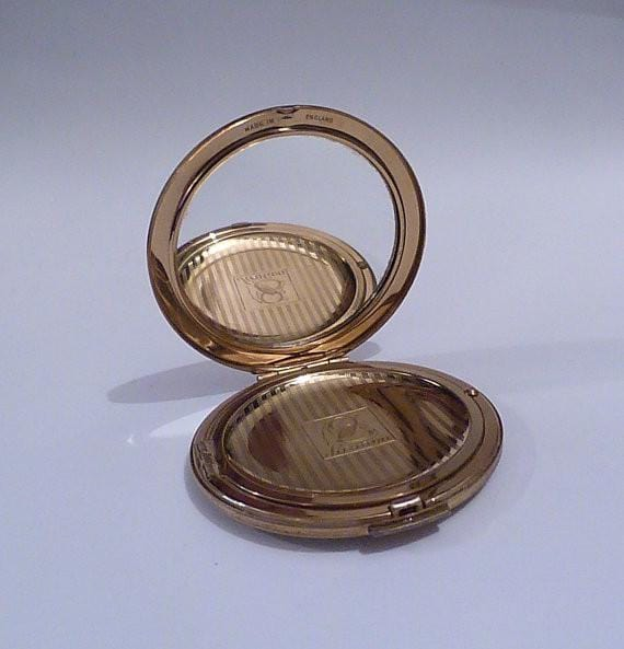 Stratton compact vintage powder compacts RONDETTE 1950s - The Vintage Compact Shop