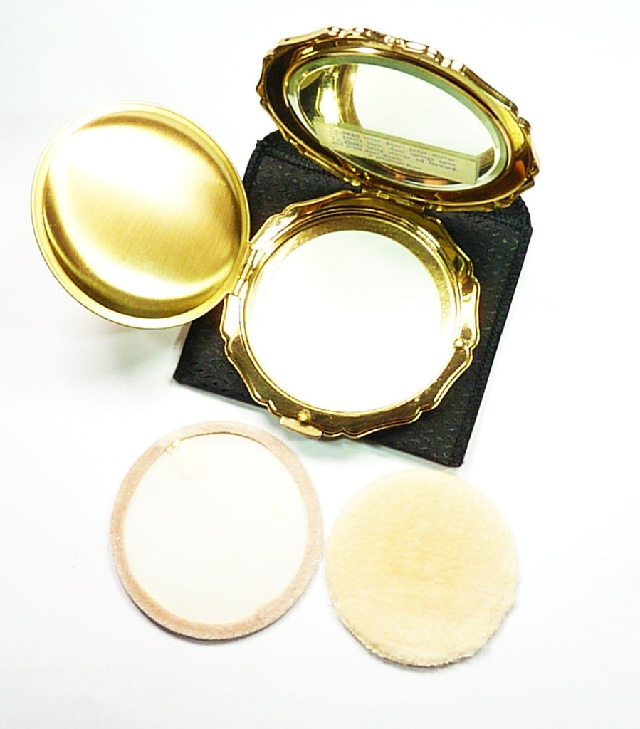 Unused Enamel Compact Mirror