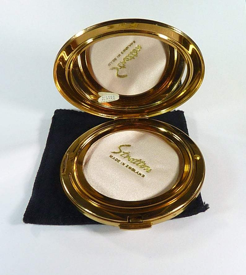 Bridesmaids Compact With Mirror For Max Factor Creme Puff 1970s