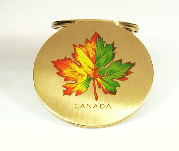 Unused Vintage Canada Stratton Compact Mirror
