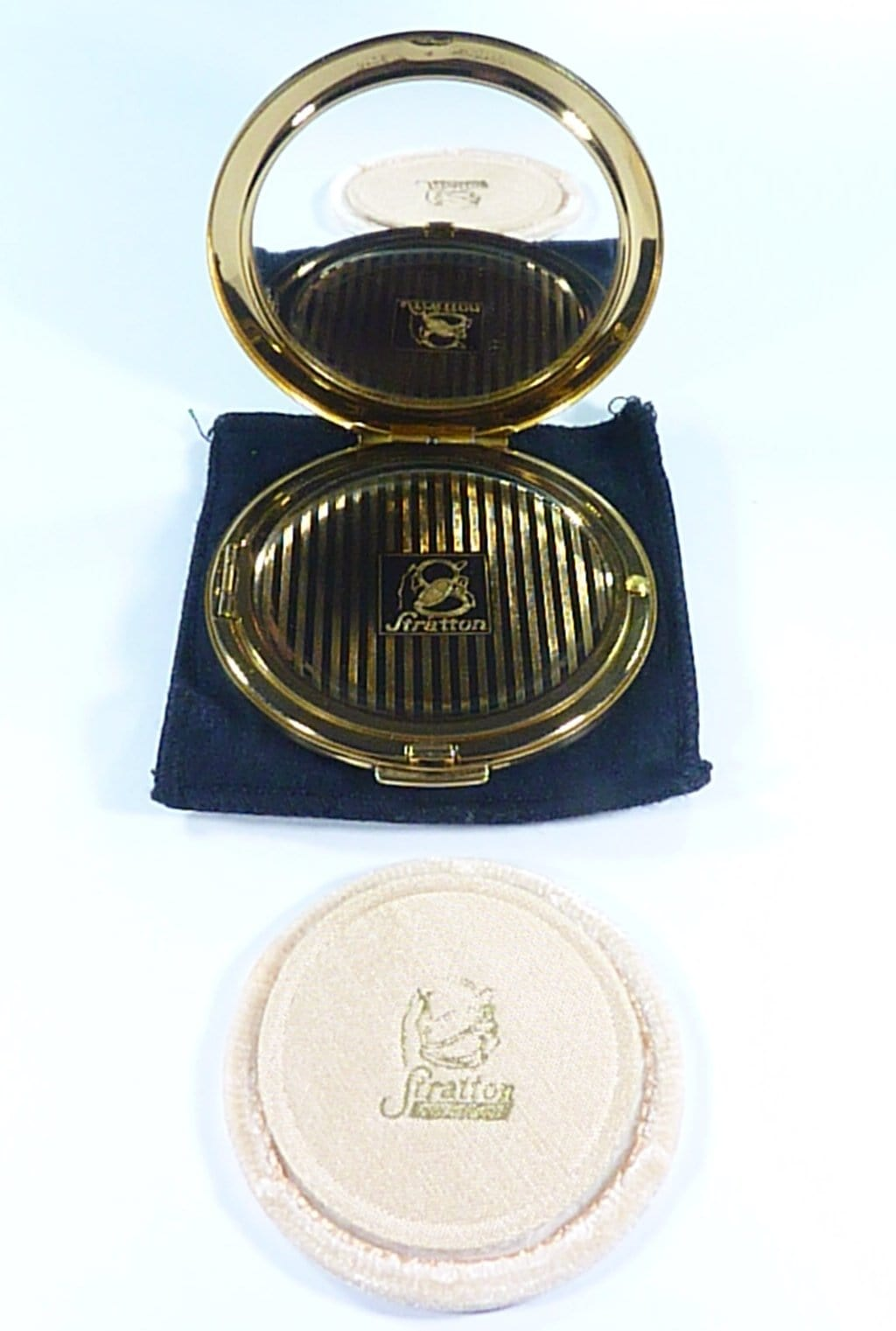 1950s Unused Stratton Refillable Loose Powder Compact