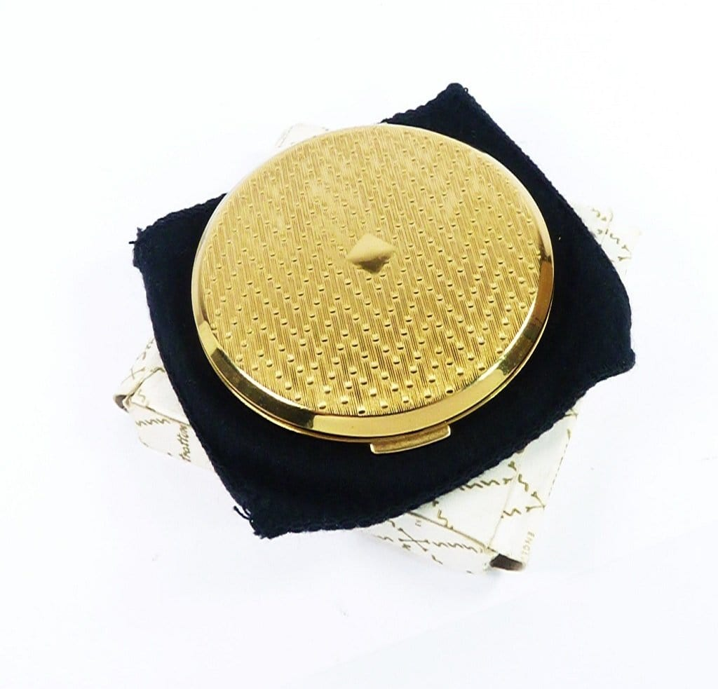 Unused Gold Plated Stratton Compact Mirror