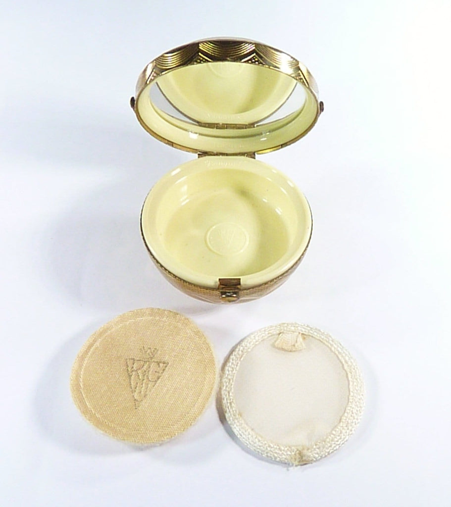 Unused Kigu Lucite Floral Basket Compact Mirror