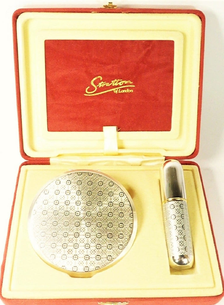 Unused Silver Plated Perfume Atomiser Set