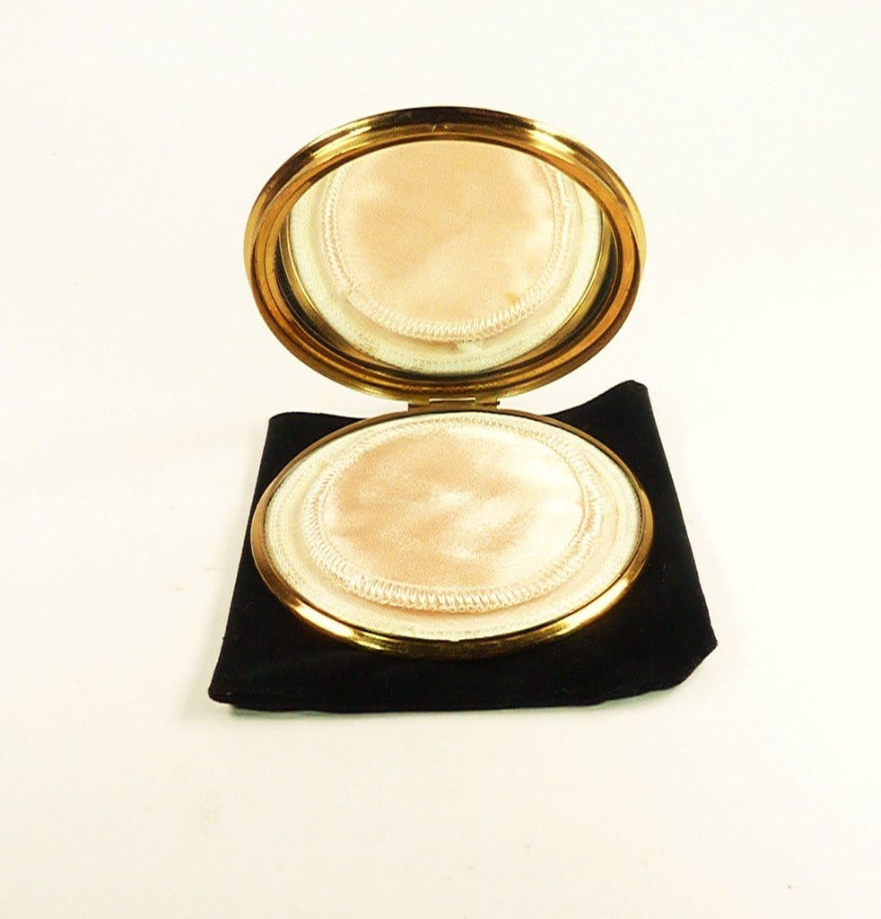 Unused Vintage Compact With Original Puff And Sifter