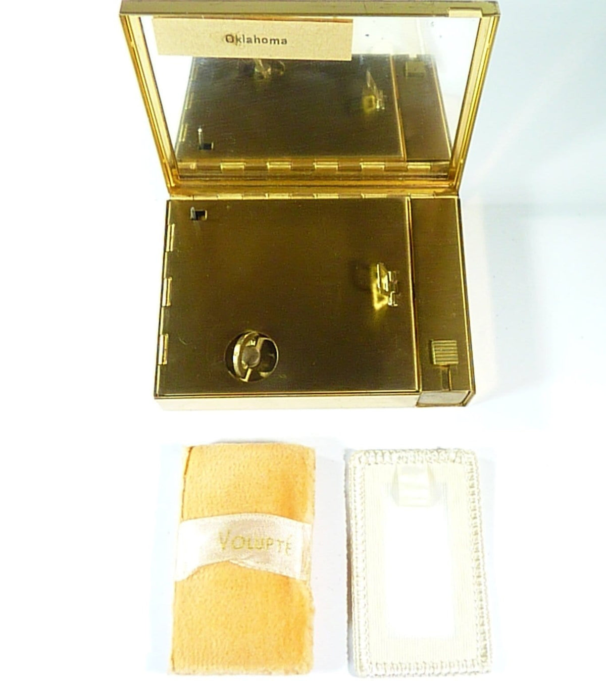 Rare musical VOLUPTE powder box musical compacts unused powder compacts