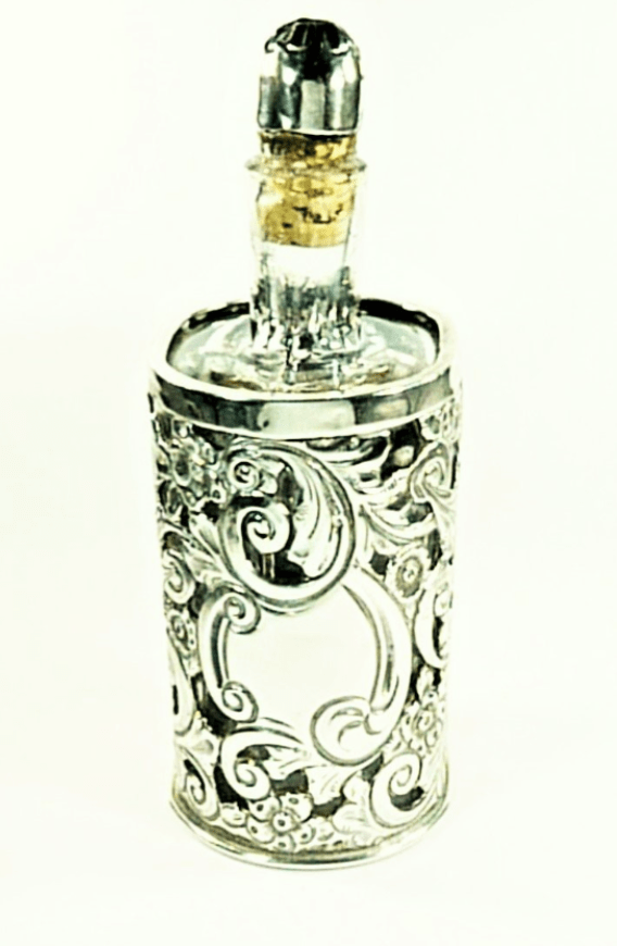 Victorian Silver Cased Perfume Bottle